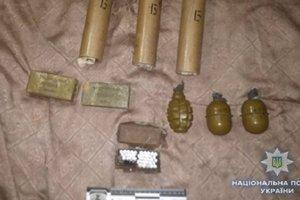 Сумские копы изъяли крупный арсенал оружия из зоны АТО