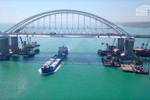 По Керченскому мосту запустили движение: появилось видео