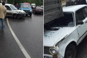 Во Львове столкнулись сразу семь автомобилей