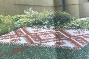 В Киеве появился рушник из цветов