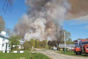 В России новый крупный пожар, разрываются боеприпасы: появилось видео