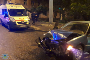 В Одессе Ford влетел в автомобиль скорой помощи