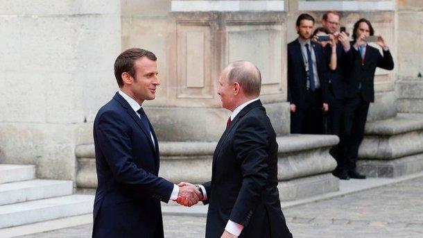 Макрон c Путиным проведут переговоры по Украине