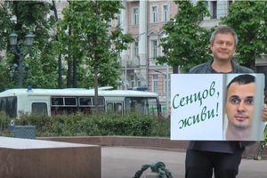 В Москве требовали освободить украинского узника Кремля Сенцова: видео