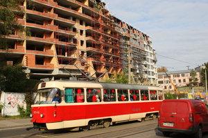 В Киеве временно закрывается движение трамваев двух маршрутов