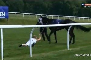 Девушка остановила коня на скаку в прямом эфире