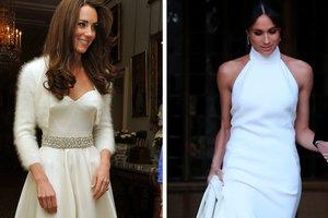 Модная битва: Меган Маркл и Кейт Миддлтон в свадебных нарядах для приема