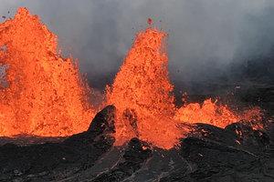 Лава вулкана на Гавайях стремительно приближается к электростанции