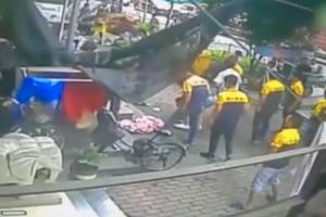 Мальчика, выпавшего с пятого этажа, поймали в простыню случайные очевидцы