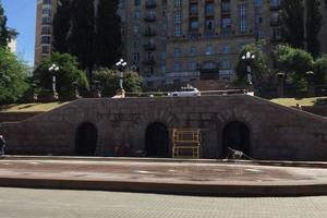 В Киеве отремонтировали лестницу на Крещатике