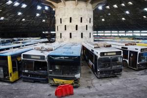 """""""Кладбище"""" для автобусов и троллейбусов: где хранят старый транспорт Киева"""