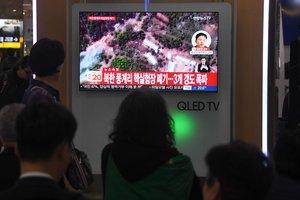 В КНДР взрывами уничтожили ядерный полигон