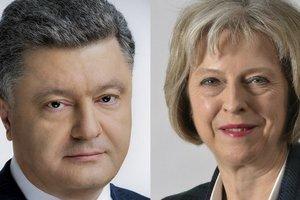 Порошенко обсудил с Мэй способы противостояния агрессии РФ