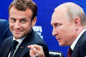 """Путин неожиданно """"подрос"""" на встрече с Макроном: опубликовано фото"""