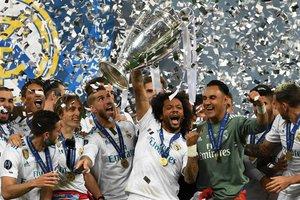 Роналду, Рамос и Зидан с семьями праздновали победу в Киеве: яркие кадры церемонии награждения