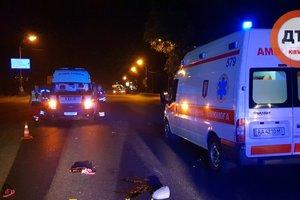 Жуткая авария в Киеве: автомобиль насмерть сбил женщину