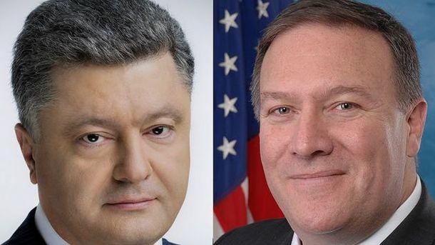 Порошенко иПомпео скоординировали позиции повыводам расследования катастрофы МН17
