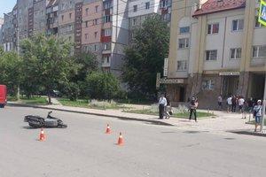 В Ивано-Франковске несовершеннолетний скутерист сбил ребенка