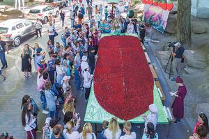 Фестивали рекорды Днепра: панно из клубники, масштабный триатлон и уникальное шоу