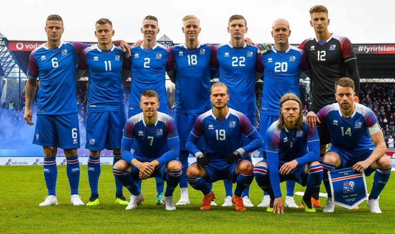 Сборная Исландии. Фото AFP