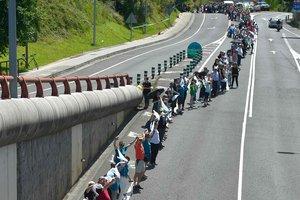 Ради независимости баски выстроились в живую цепь длиной 200 километров