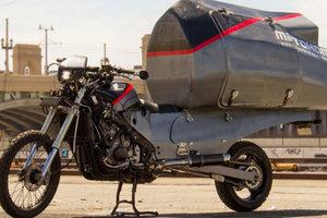 Американец превратил мотоцикл в дом на колесах: фото