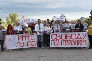 В Запорожье прошла акция в поддержку Сенцова и других узников Кремля