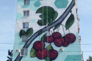Многоэтажку в Мелитополе украсили 27-метровым символом города