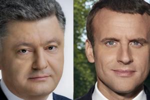 """Порошенко обсудил с Макроном контакты в """"нормандском формате"""""""