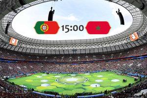 Онлайн Португалия - Марокко: Криштиану Роналду открывает счет