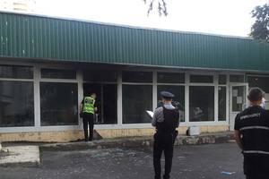 В Киеве подорвали и подожгли банк: опубликованы фото