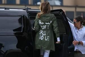 """""""Мне все равно, а вам?"""": Мелания Трамп спровоцировала скандал в США надписью на куртке"""