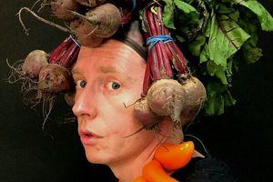 Фуд-арт: художник создает автопортреты, вдохновляясь работами Арчимбольдо