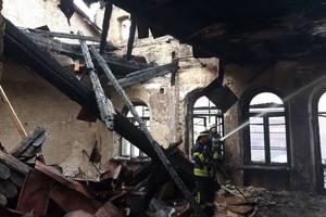 В центре Киева горел старинный дом: опубликованы фото