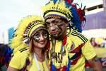 Колумбийские фаны уже на стадионе. Фото AFP