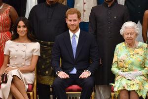Меган Маркл и принц Гарри посетили королевский прием - фото