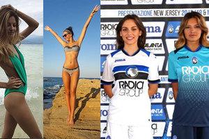 Очаровательные модели представили новую форму итальянского клуба, мы нашли их фото без одежды