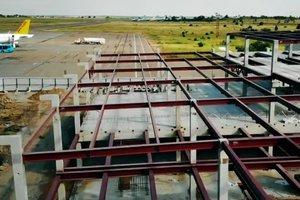В Запорожье показали видео масштабного строительства в аэропорту