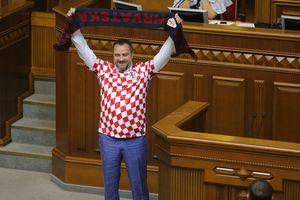 Глава ФФУ пришел в Раду в футболке сборной Хорватии
