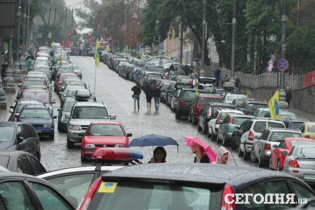 Киев охватил новый бессрочный бунт евробляхеров: чего хотят водители