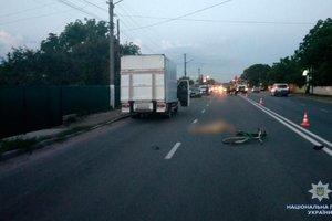 В Черновицкой области микроавтобус сбил велосипедиста