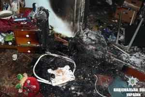 В огне на Прикарпатье погиб младенец и его старший брат