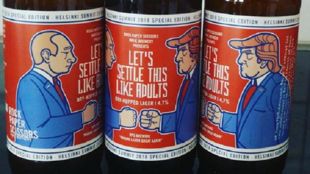 В Финляндии выпустили пиво к саммиту Путина и Трампа