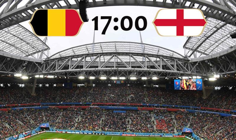 Онлайн матча за третье место чемпионата мира Бельгия - Англия