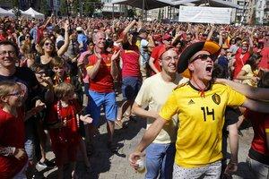 Сборная Бельгии на ЧМ-2018 выиграла для своих болельщиков телевизоры
