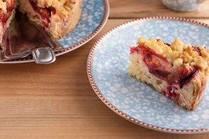 Для летнего чаепития: сливовый пирог с медом и хрустящей крошкой