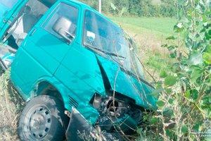 В Черновицкой области микроавтобус с людьми влетел в дерево