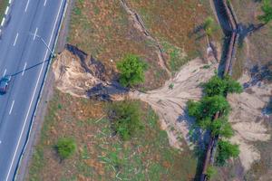 В Днепре из-за ливней произошел обвал под Кайдакским мостом