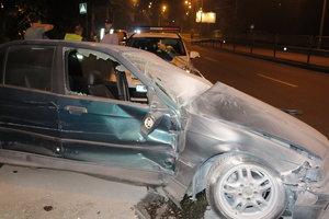 Масштабное ДТП в Киеве: водитель протаранил такси и маршрутку