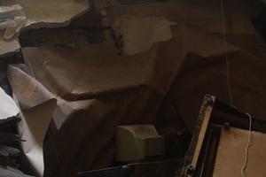 В Одессе часть квартиры провалилась в подвал